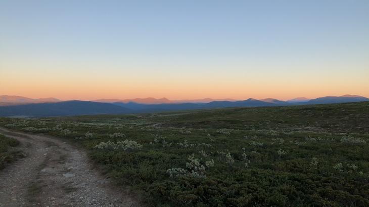 Solnedgang i Refjellet.