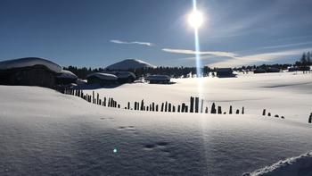Kvernbru en vakker vinterdag i solskinn