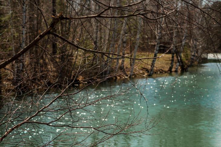 Stille elv en grå høstdag